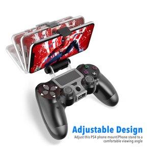 Image 3 - PS4 controller Impugnatura Del Basamento Della Clip Supporto Astuto del Telefono Mobile del basamento del Morsetto Staffa di Montaggio Gamepad Controller Supporto Del Basamento per PS4
