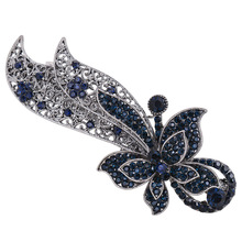 Elifashion Butterfly & Bow Hairpins Rhinestone Crystal Hair Clip Barrettes Vintage Hair Accessories Jewelry For Women Girls superman batman captain america hairpins hair ornaments hair jewelry children hair accessories girls hair clip kids barrettes