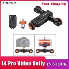 Andoer L4 PRO Mini Điều Khiển Từ Xa Vận Động Viên Trượt Băng Cơ Giới Camera Video Dolly Theo Dõi Sliderfor Canon Nikon Sony DSLR Camera