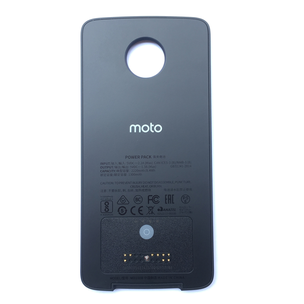 Moto Z4 Mods  For Additional Real 2200mA Battery  Style Shell  Droid Phone Extra Battery Case Z2 Z3 Power Pack