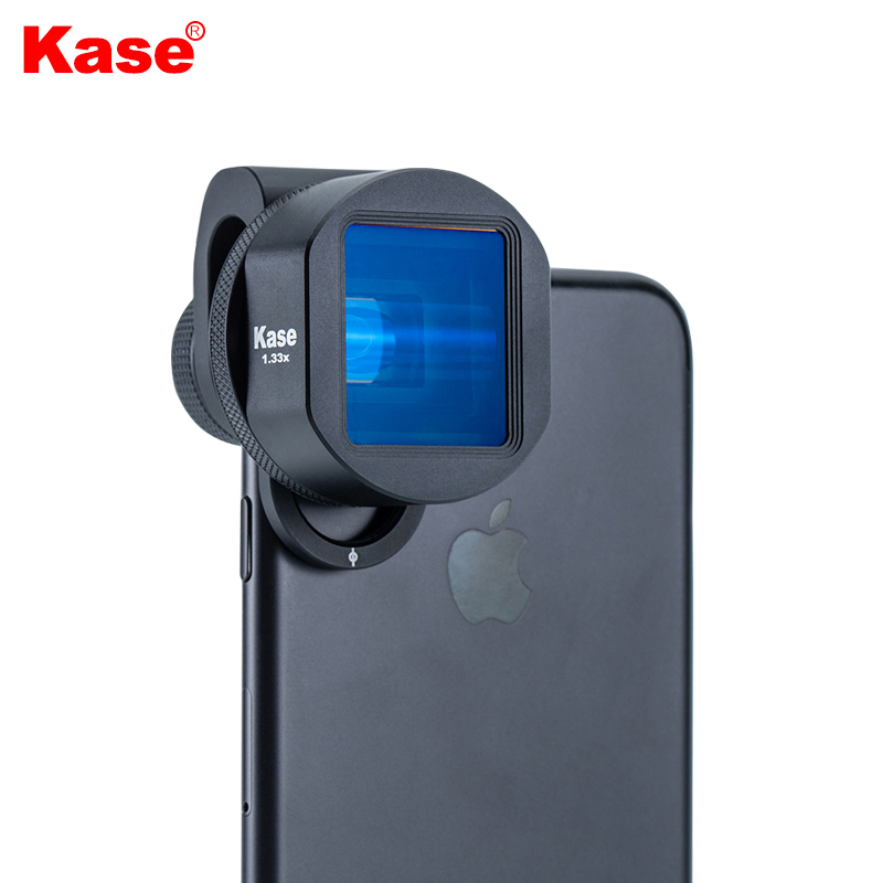 Kase 1.33X Wide Screen Mobile Anamorphic Film Lens 2.4:1 widescreen Video Cinema Lens for Phone Filmmaker iPhone Samsung Huawei