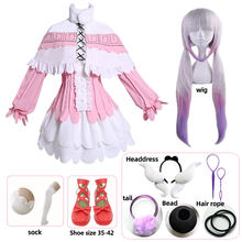 Kanna Cosplay Japanse Anime Miss Kobayashi 'S Dragon Maid Kamui Kanna Cosplay Kostuums Halloween Party Kawai Jurk Voor Vrouwen Pruik(China)