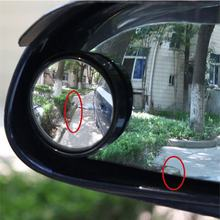 Auto Car-styling Fit Car Small Round Mirror Blind Spots Rearview Reverse Auxiliary Lens Wide-angle Lens(China)