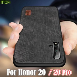 Image 1 - MOFi For Honor 20 Case Huawei 20 Pro  Cover Housing  Silicone  shockproof jeans PU leather TPU Original Anti Knock