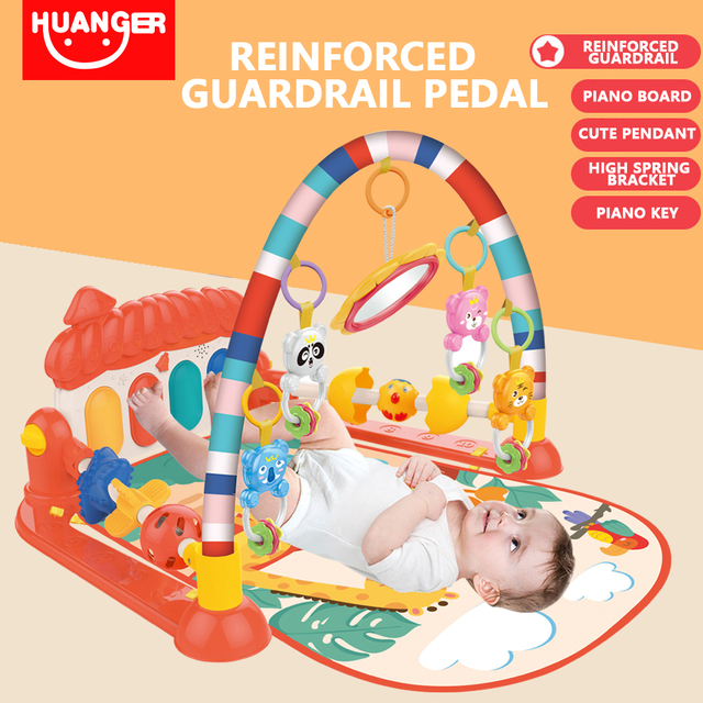 Baby Play Mat Kids Rug Educational Puzzle Tapis Carpet With Piano Cute Animal Playmat Baby Crawling Activity Gym Toys | Happy Baby Mama
