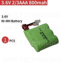 Новинка, перезаряжаемый Ni-MH аккумулятор 1 шт./лот 2/3AAA 3,6 В 800 мАч 2/3 AAA Ni-MH с вилкой для беспроводного телефона, бесплатная доставка