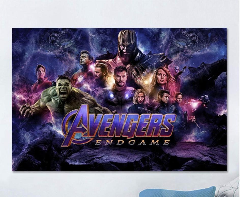 Современная Настенная живопись Мстители персонаж эндшпиль Железный человек Тор Капитан Америка постеры картина холст домашний декор - Цвет: Бургундия