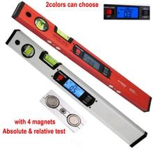 """Цифровой угломер Инклинометр электронный уровень 360 градусов с 4 магнитами уровень наклона тест линейка 400 мм 16"""""""