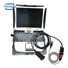 CF19 Laptop for Liebherr Diagnostic Deutsch Cable Crane Excavator Diagnostic Tool Whole Set