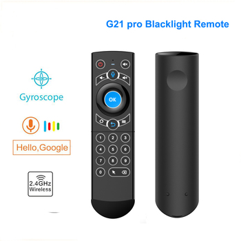 G21 pro Backlit Google Voice Air Mouse 2.4GHZ g21s Wireless Remote Control airmouse For Xiaomi Mag 250 322 HTv 5 android Tv Box