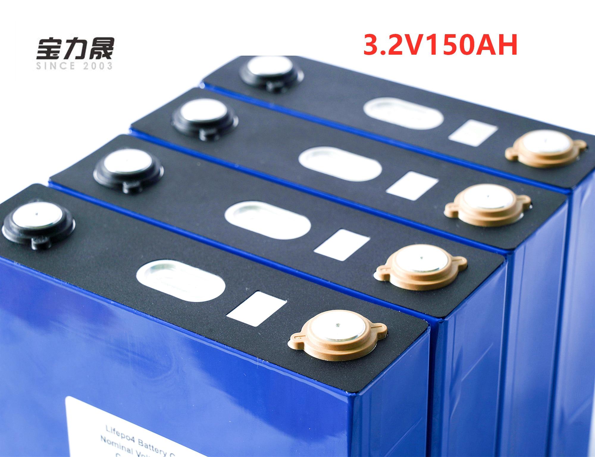 Lifepo4 bateria recarregável 8 pces 3.2 v