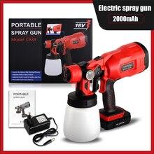 Hvlp portátil pistola de grande capacidade 550w 18v ferramentas para casa para jardim para pintura esterilização pistola elétrica airbrush