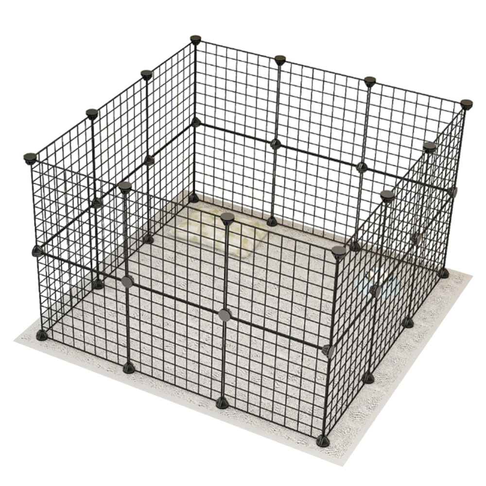New Durable Small Animal Cage Portable Metal Wire Yard Fence Pet Playpen Animal Fence Cage Kennel Crate