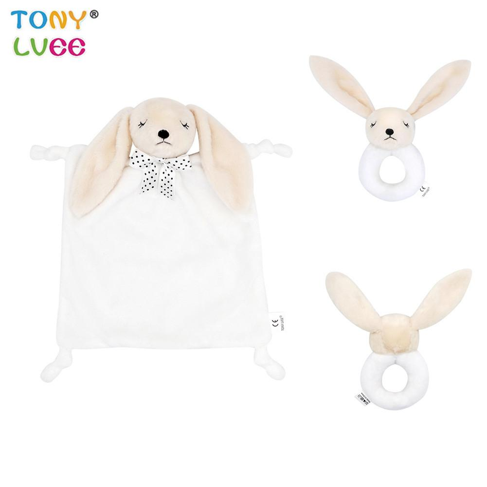 LeadingStar Doll Round Handbell Appease Towel Baby Comfort Blanket Towel Toy