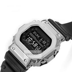 316 Edelstahl Uhr Lünette Für GX56BB GXW-56 Metall Strap Lünette Edelstahl Werkzeuge Fall Rahmen 4 Farben