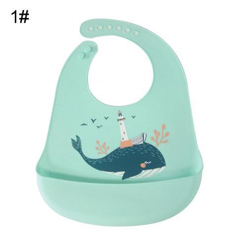 Водонепроницаемый Регулируемый нагрудник с животным принтом для малышей с карманом для кормления слюнявчик полотенце для еды аксессуар мягкий детский материал обеспечивает уход - Цвет: Green Whale