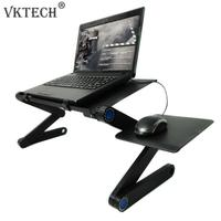 Aluminum Alloy Folding Table Laptop Desk Portable Adjustable Notebook Stand for Bed Sofa Laptop Table Home Office Computer Desk