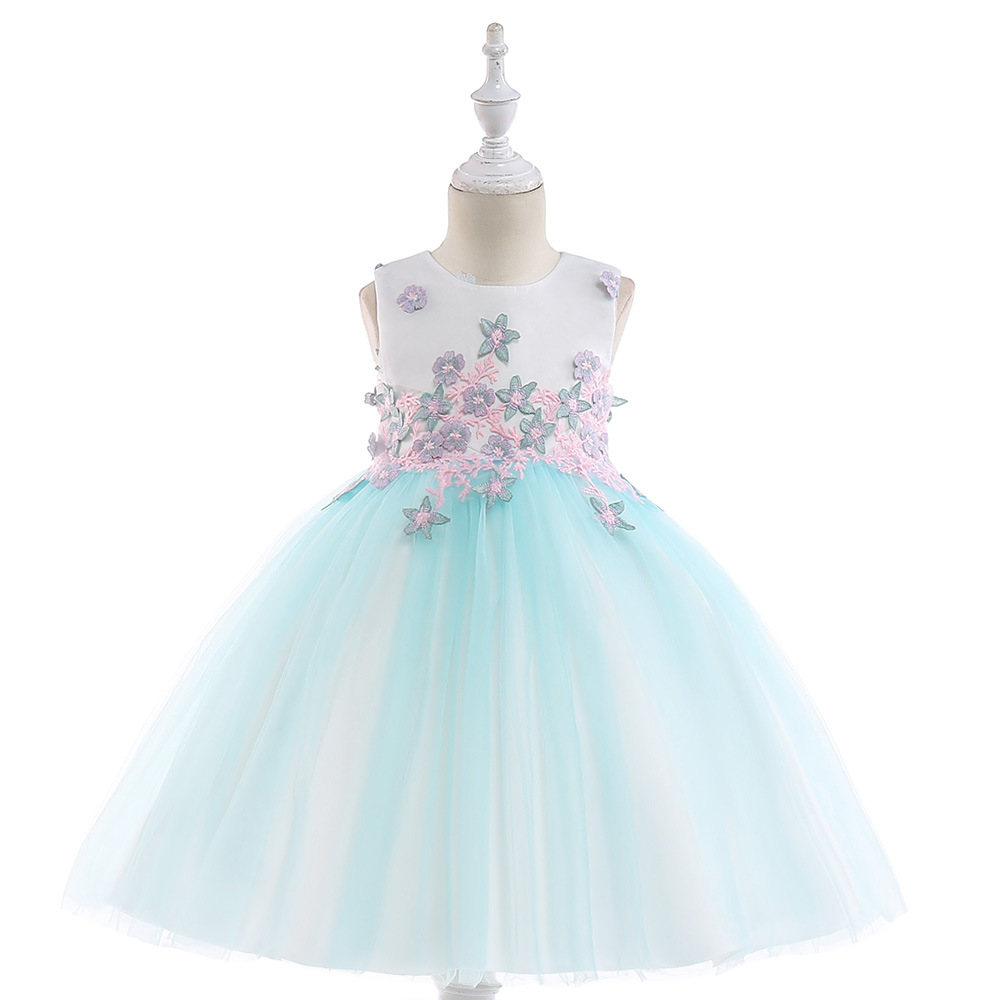 A Generation Of Fat Dresses Of Bride Fellow Kids Princess Dress Girls Piano Costume Children Wedding Dress Birthday Puffy Late F