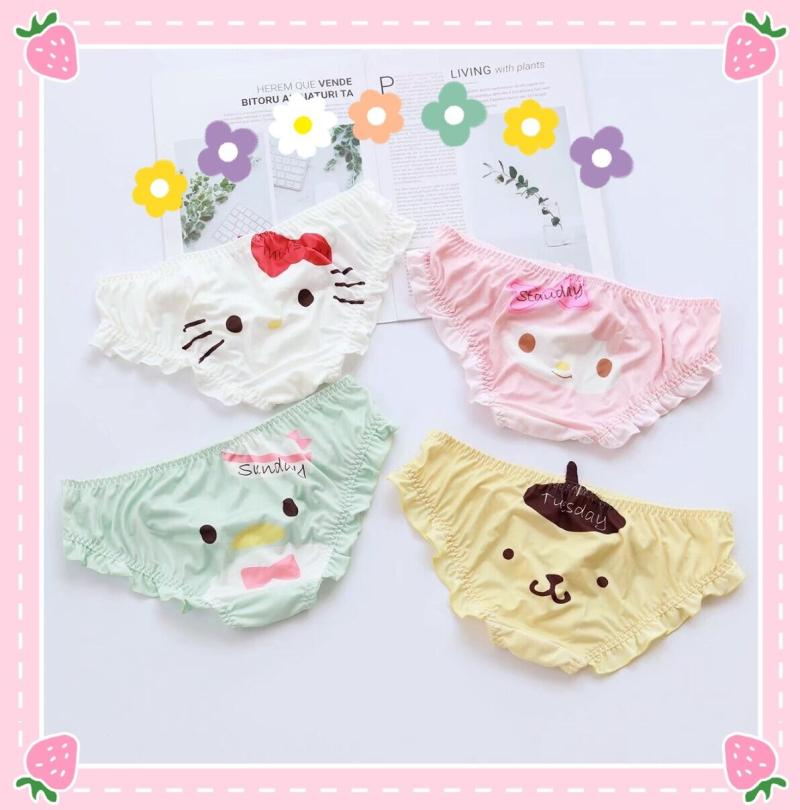 Cute Melody Penguin Cartoon Panties Cotton Seamless Underwear Gril Briefs Female Casual Underpants