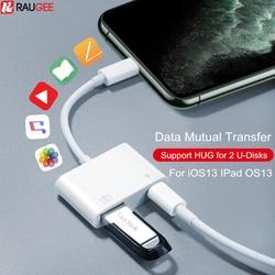 OTG Adaptor untuk Lightning Ke USB Flash Drive Pembaca Kartu Kamera Mouse Keyboard Converter OTG Kabel Usb Adaptor untuk iPhone ipad