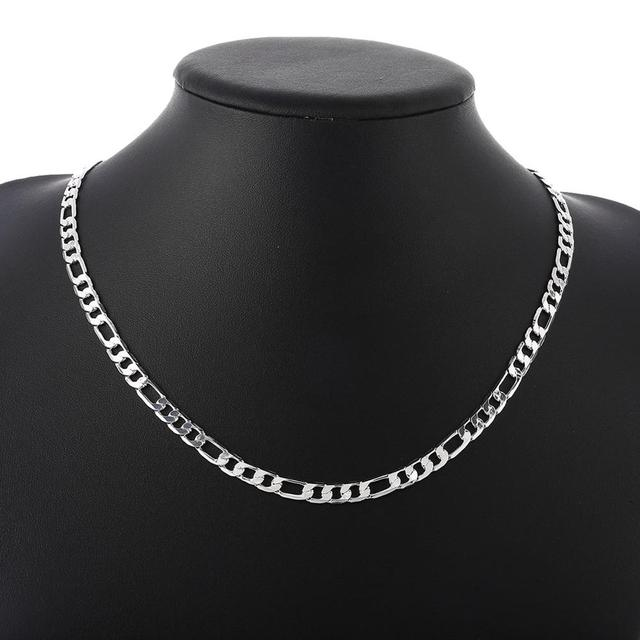 925 Silver Necklace Three Rooms One Ferrero Necklace Silver Chain Men&Women Silver Necklace Fashion Classic Jewelry 4MM 2