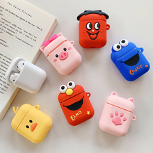 Cartoon Soft Silicone Case for Apple Airpods Shockproof Cover for Iphone Xr AirPods Earphone Cases Cute Air Pods Protector Case 3d lucky rat cartoon bluetooth earphone case for airpods pro cute accessories protective cover for apple air pods 3 silicone