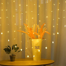 2M x 1.5M Heart Shape String Holiday Light Christmas Wedding Decoration Curtain lights  Fairy Garland