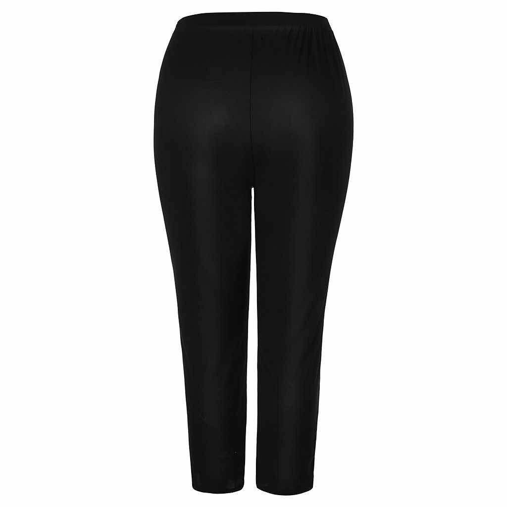 Jaycosin nueva moda damas Casual rebordear Jeans estiramiento elástico tensión Plaid Delgado femenino suave suelta alta cintura Leggings 10 #4