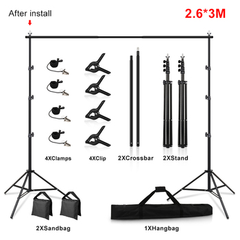 1.5/2/2.6M*2M T-Shape Backdrop Stand With Green Screen Photo Background Support For Birthday Portrait Photo Studio Photography 11