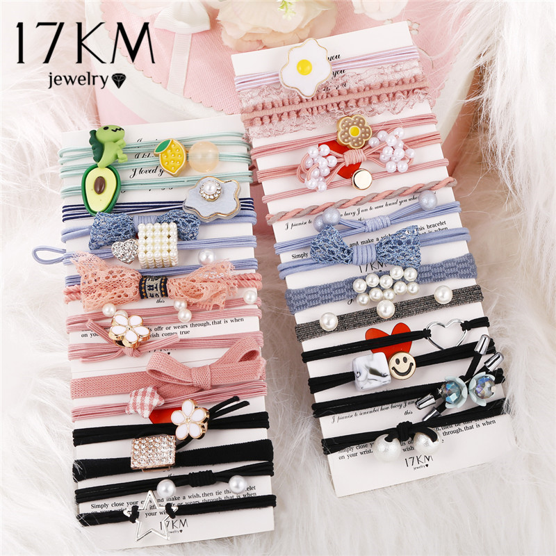 17KM Cartoon Bag Children Elastic Hair Bands For Girls Baby Rubber Bands Hair Accessories Headband 2020 Ponytail Holders Rope