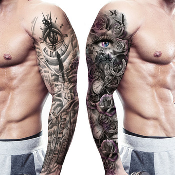 Waterproof Temporary Tattoo Full Arm Body Stickers for Man Women Dropshipping