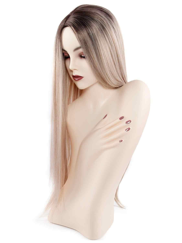 Длинные золотые парики для женщин синтетические волосы парики Косплей термостойкие парики с челкой