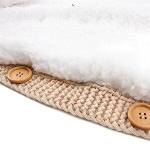 Image 2 - เด็กทารกเด็กแรกเกิดกระเป๋าฤดูหนาวขนแกะ Swaddle ผ้าห่มขนาดใหญ่รถเข็นเด็ก Wrap สำหรับชายหญิงถัก Sleep Sack