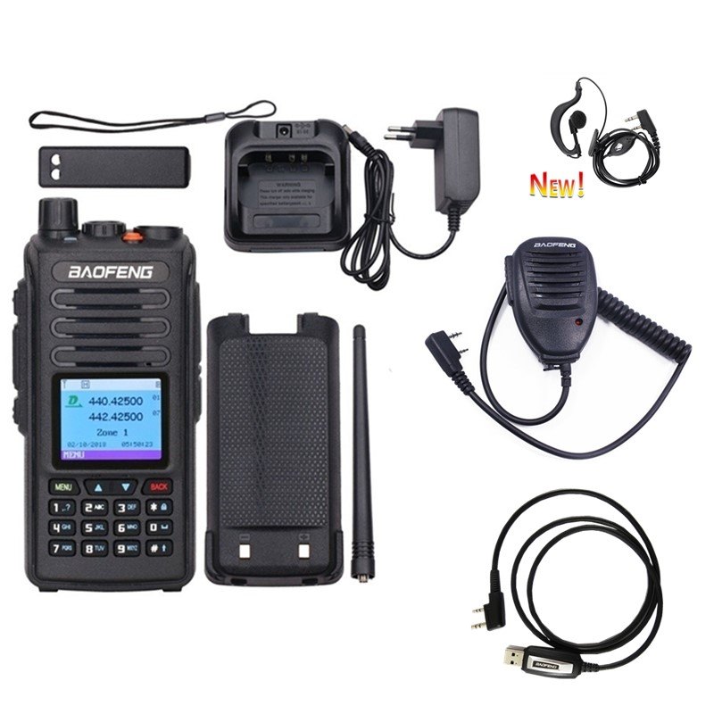 Baofeng DM-1702 DMR Digital Analog Portable Walkie Talkie (GPS ) Repeater Dual Band VHF/UHF Ham Two Way Radio With Accessories