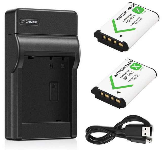 HDR-AS200VR and Charger for Sony HDR-AS100VR 2-Pack HDR-AS300R Action Cam Battery