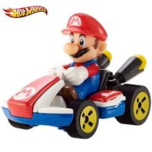 Hot Wheels 1:64 Mario Kart Moulé sous pression Mario avec Norme Kart Véhicule Chiffres Alliage Voiture Enfants Garçons Voiture Modèle Jouets GBG25