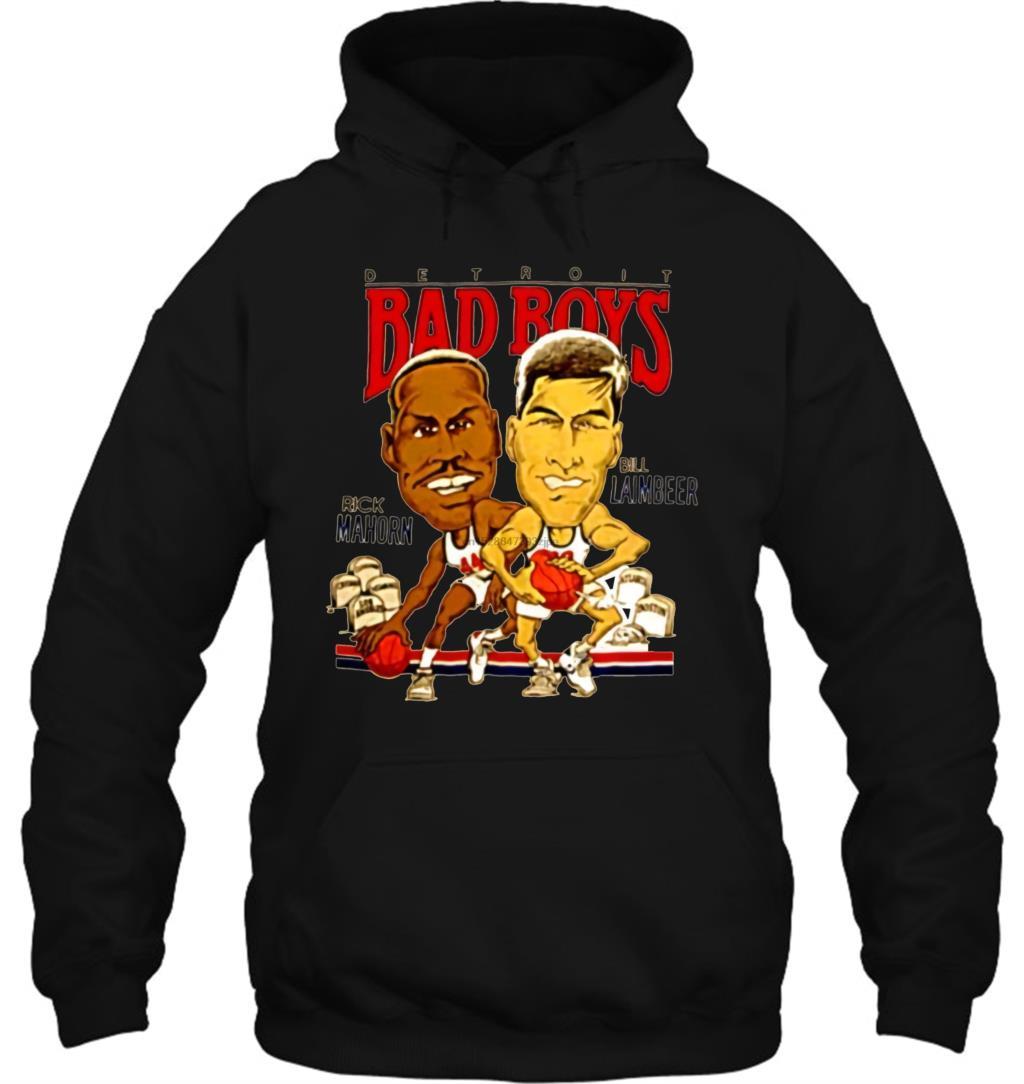 Bill Laimbeer Retro Basketball Caricature Men Women Streetwear Hoodies Sweatshirts