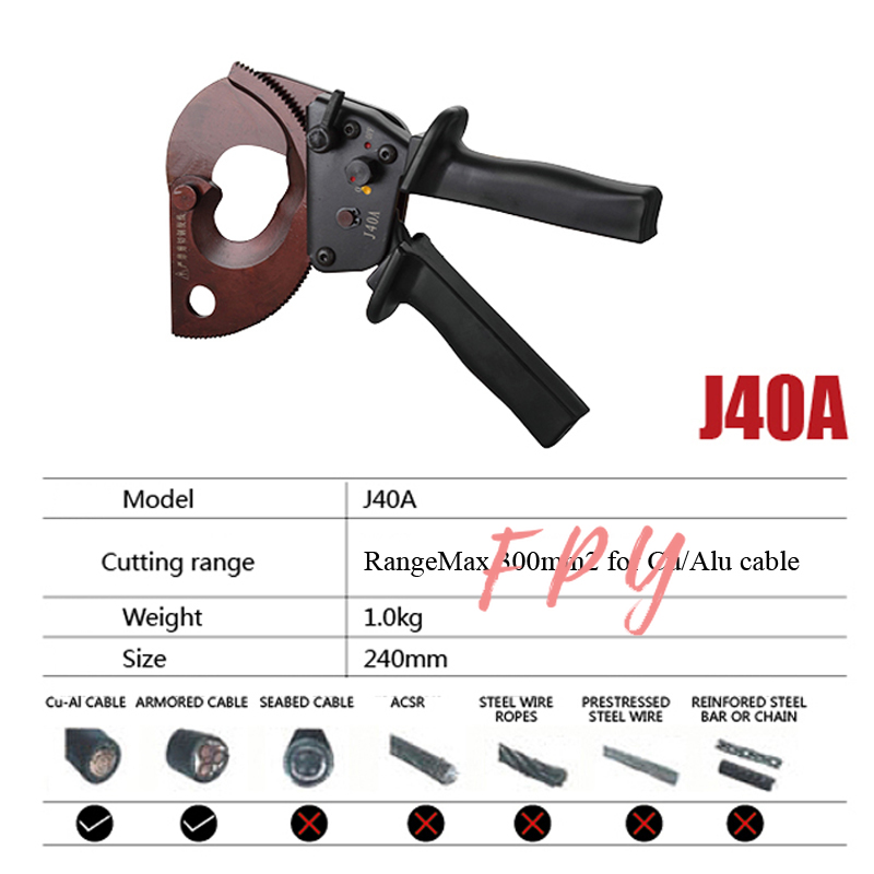 Cutter Alu For J40A Ratchet Cu 300mm2 Cutting Cable Max Cable