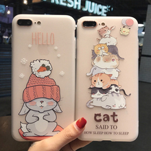 Phone Case For iPhone XR Cartoon Cover 11 11Pro Scrub Cute 7 8 6 6s plus Drop-proof pro max