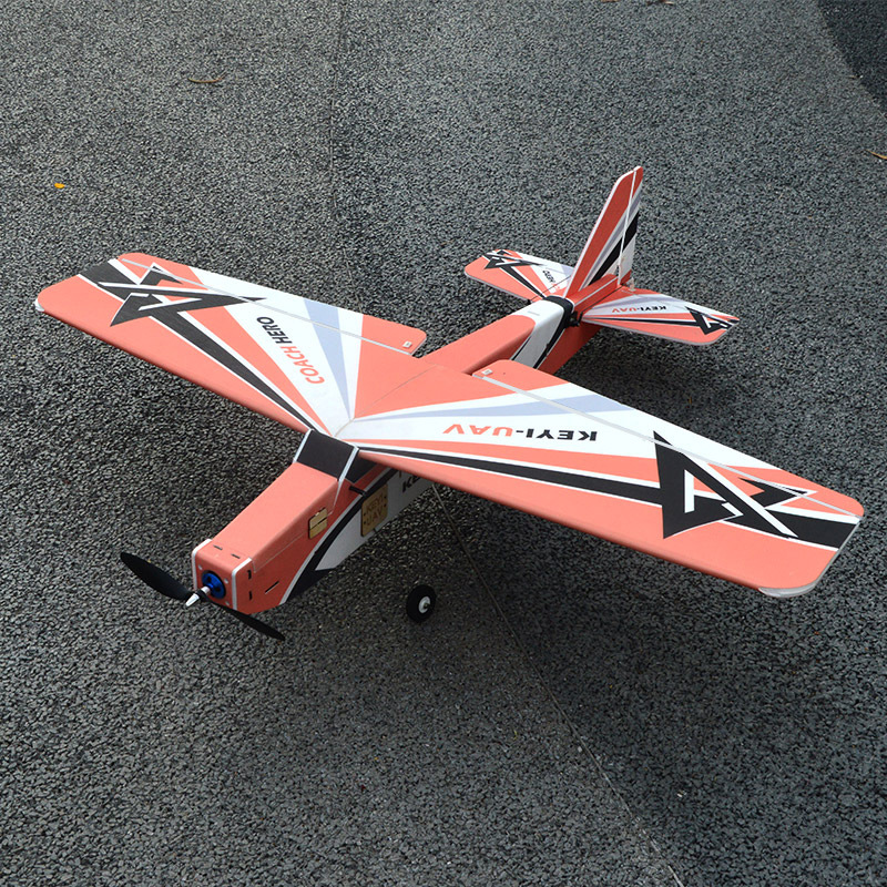 Keyiuav Hero New-Style Pp PVC Board Drop-resistant Fixed-Wing Model Airplane Remote Control Aircraft Mc6c Homeostasis Balance