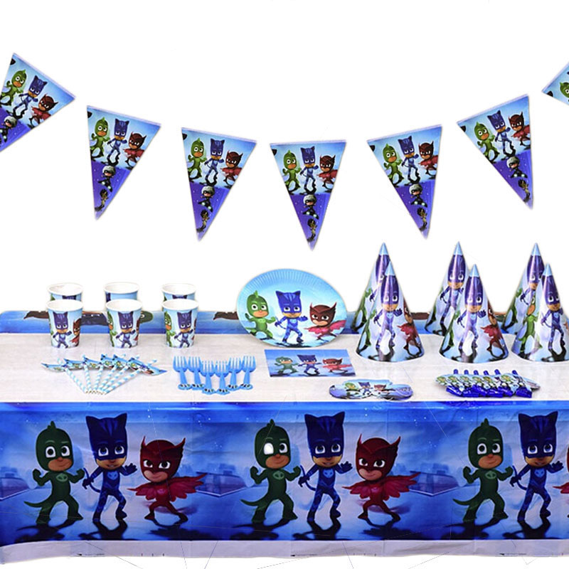 Pj Masks Birthday Party Supplies Decoration Pj Masks Action Figure Toys Owlette Catboy Gekko Child Birthday Party Gifts Sets