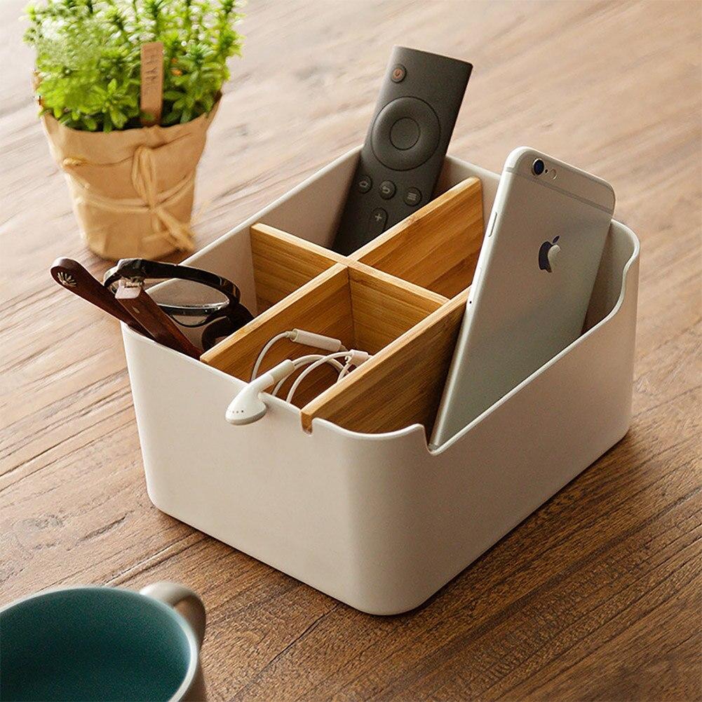 Divided Organizer Storage-Box Pencil Cell-Phone Remote-Control Desktop Multi-Function