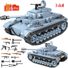 Military German Technik Tank Building Blocks Compatible WW2 Army City Soldier Police Weapon Bricks Sets Toys Boys ww2 japanese army type 98 soldier uniform sets jacket