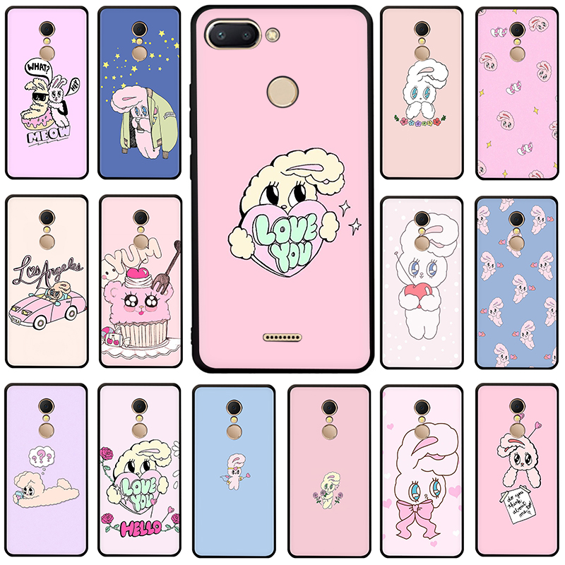 Funda de teléfono de silicona Rosa coreana chuu Ester kim conejo para Xiaomi Redmi 5A 6A 5 Plus 6 Pro 7 GO Note 4X5 5 5 6 6 7 8 Pro
