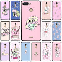 Pink Korean chuu esther kim rabbit Silicone phone case for Xiaomi Redmi 5A 6A 5 Plus 6 Pro 7 GO Note 4X 5 6 7 8 Pro