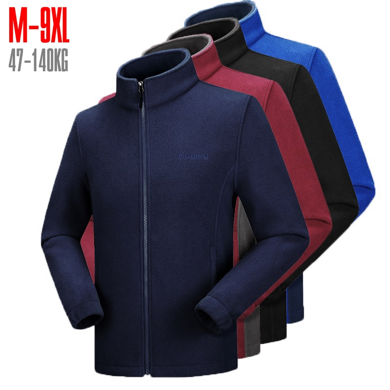 Fleece Mens Jacket Large Sizes 10xl 8xl 9xl 7xl 6xl Big And Tall Men Clothing Jacket Liner Autumn Spring Cardigan Plus Coat Male