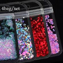 Paillette Manicure-Accessories Sequins Nail-Art-Decorations Nail-Glitter Holographic