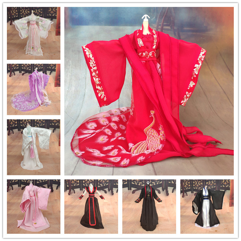 Bybrana 1/6 Chinese Style Costume BJD Clothes Doll Accessories