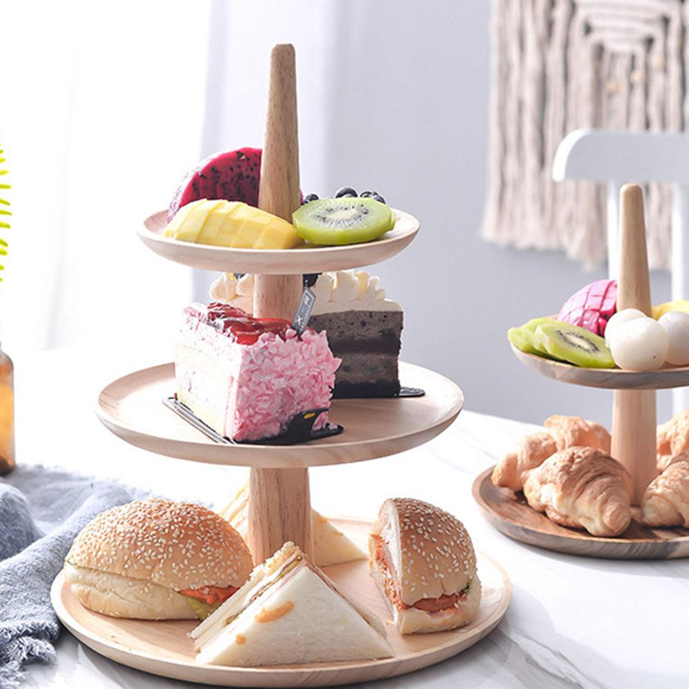 3 Tier Cake Stand Wooden Serving Tray
