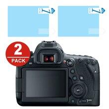 2x LCD ekran koruyucu koruyucu Film için Canon EOS 6D 7D Mark II 5D Mark IV III 5D4 5D3 5DS 5DSR 1Dx 1Dc M200 100D 200D 250D